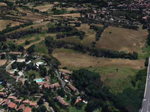 vista aerea di una delle tenute messe a bando per i giovani agricoltori