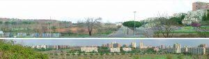 Laurentino 38 vista panoramica sul quartiere e sul'area di intervento