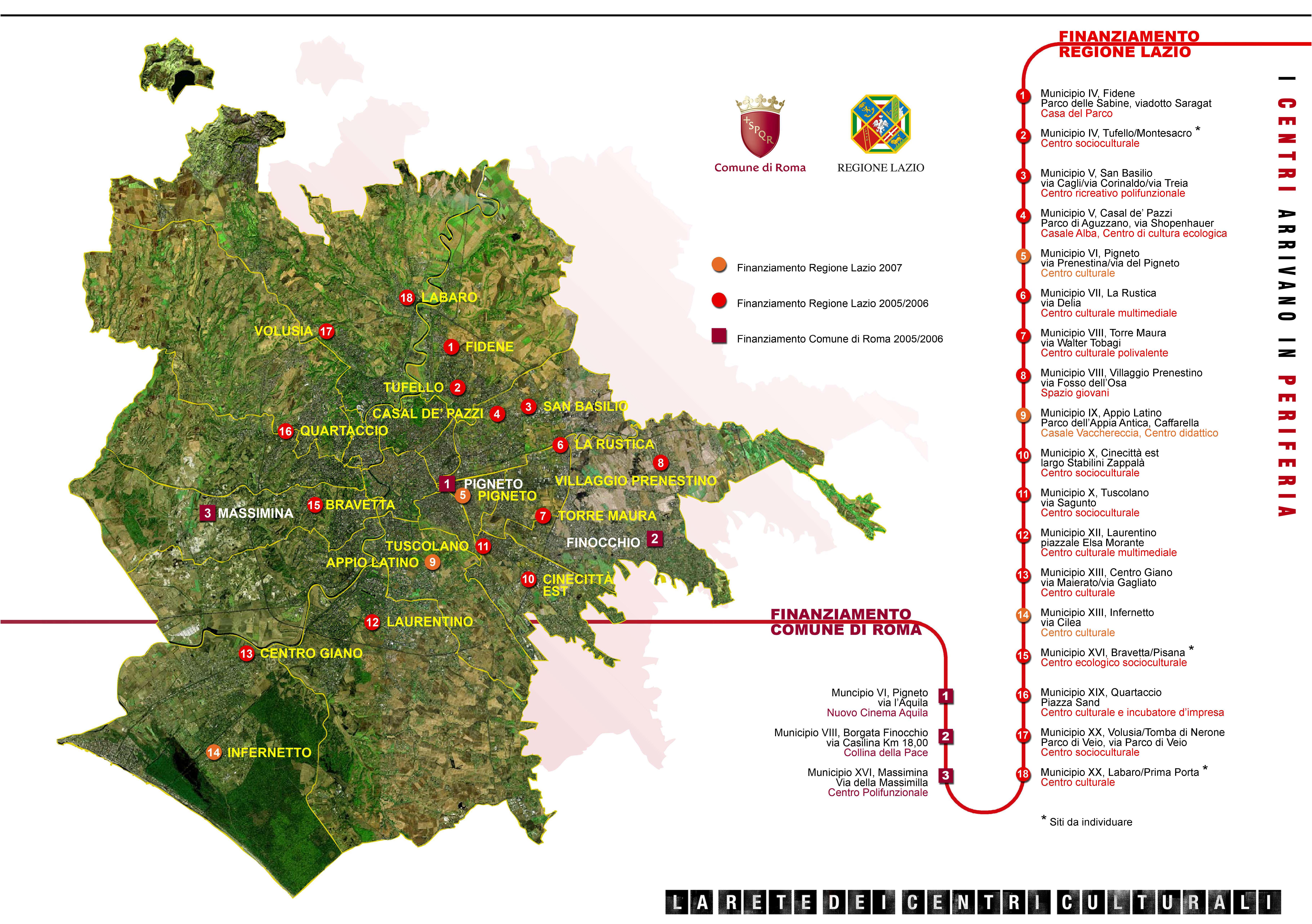 Mappa dei finanziamenti i centri arrivano in periferia