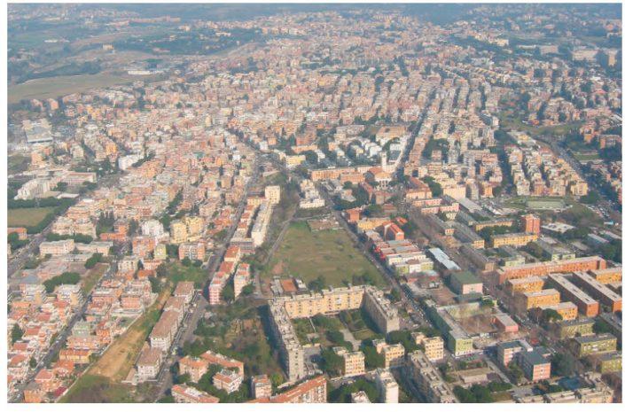 Vista aerea quartiere di Tor Bella Monaca