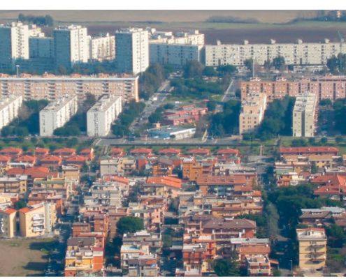 Periferia di Roma - Vista aerea